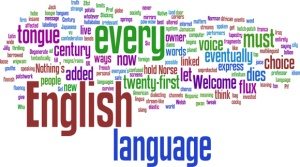 Tag cloud on english language